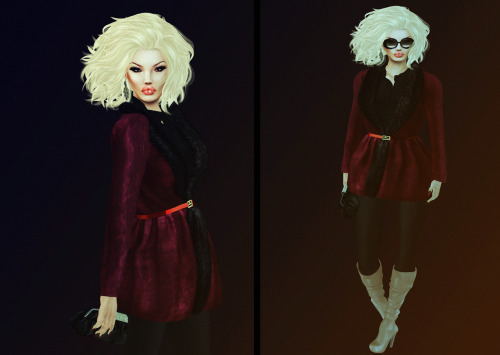 LOOK: Hair:Truth Earrings:Donna Flora Glasses:P.C. Coat/Boots:BELGRAVIA Clutch/Top:COCO