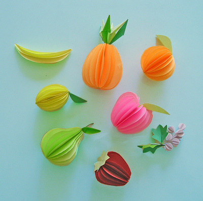 pepperidges:  Paper Fruits - paper sculptures by Carlos N. Molina - Paper Art on Flickr.