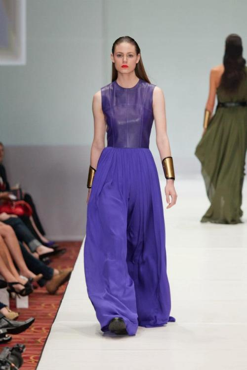 luxchichouston:  love this leather + purple Maison Rabih Kayrouz at Fashion Houston 2012, photo jay marroquin