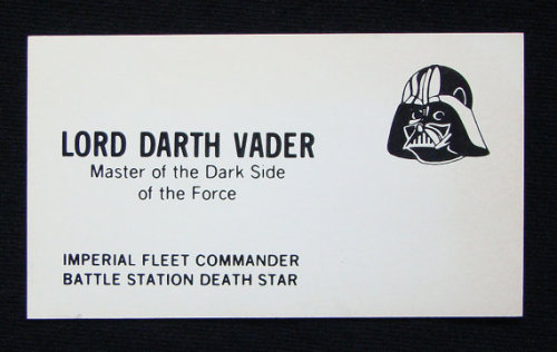 Darth Vader Business Card.