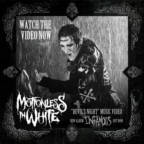 New music video from #motionlessinwhite - Devil's Night. #infamous