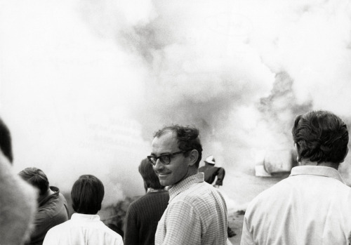 criterioncollection:  A very mischevious Godard on the set of WEEKEND.