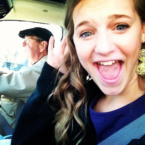 My grandaddy and i drivin in da car