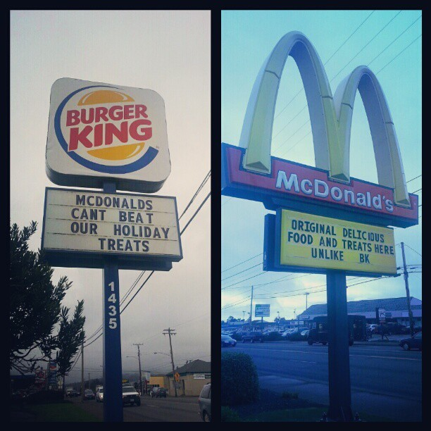 Shut up….you both suck #fastfood