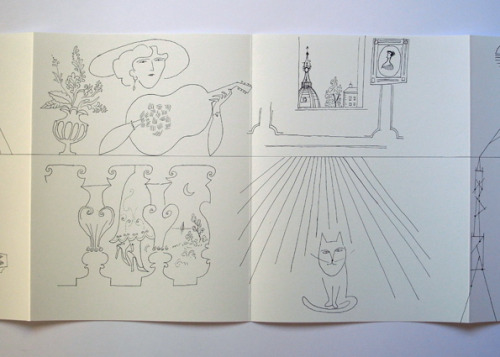 aileenkwun:  Saul Steinberg, The Line 30 Pages Leporello Foldout, 585 x 25.5 cm, b/w Offset, First Edition, 2011(Original: Saul Steinberg, The Line, 1954, ink on paper, 45.7 x 1026.2 cmThe Saul Steinberg Foundation, New York) (via nieves)