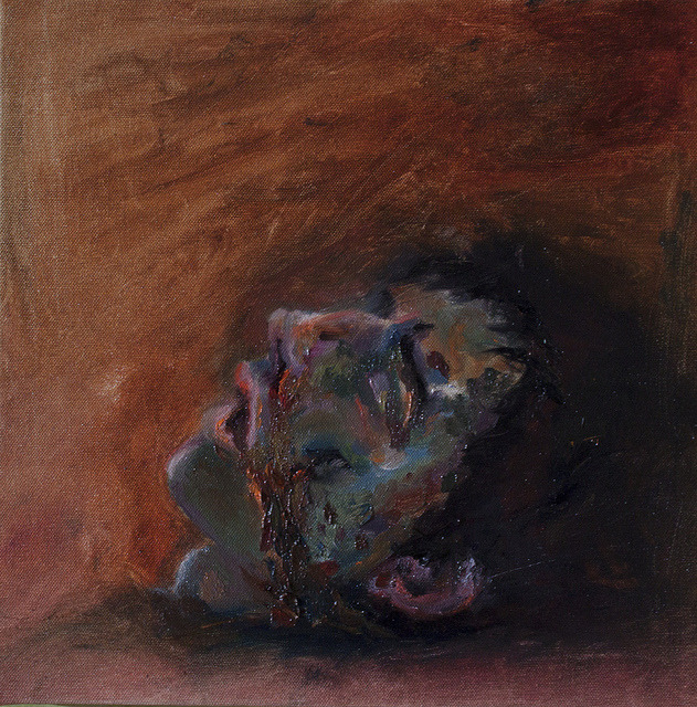 Oscar on Flickr.Oscar the zombie, oil on canvas 30 * 30 cm