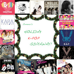 zemnax:  - HOLIDAY K-POP GIVEAWAY- Happy Holidays everyone! I've decided to a Christmas Giveaway because everyone needs more K-Pop in their life! There will be FIVE winners chosen! 1st Place Winner Receives: - Any 2 K-Pop Albums of their choice! - Any 2 K-Pop Posters of their choice! - Surprise K-Pop Gift from me! 2nd Place Winner Receives: - Any 2 K-Pop Albums of their choice! - Any 1 K-Pop Poster of their choice! 3rd Place Winner Receives: - Any 1 K-Pop album of their choice! - Any 1 K-Pop Poster of their choice 4th Place Winner Receives: - Any 1 K-Pop album of their choice! 5th Place Winner Receives: - Any 1 K-Pop poster of their choice! RULES:  1. Like only once.  2. There is a limit of *1* reblog per person! The last giveaway I hosted had too much spam and just to make it fair! 3. You don't have to be following me, but I would appreciate if you do! 4. No giveaway blogs. They will not count and you will automatically be disqualified. 5. I'm willing to ship internationally! Everyone should have a chance to enter! 6. If you have any questions about this giveaway, feel free to contact me through my ask box.  7. When the winner is being chosen, keep your ask box open so I will be able to contact you if you won! If you have any questions, a Giveaway FAQ has been set up on my blog! Giveaway starts: November 13, 2012.  Giveaway ends: December 15, 2012 at MIDNIGHT EASTERN STANDARD TIME! Good luck~! #ball till u fall