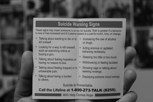 Only a phone call, can save a persons life.