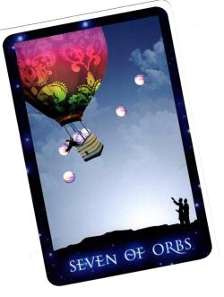 The Seven of Orbs card from Patricia Cori's new Sirian Starseed tarot was featured as the card of the day by the president of the American Tarot Association. Yay!