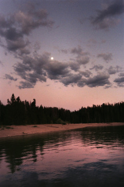 sky trees moon night water clouds nature outdoors evening reflection color sunset Camping vertical Afternoon