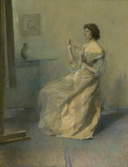 cavetocanvas: Thomas Wilmer Dewing, The Necklace, c. 1907