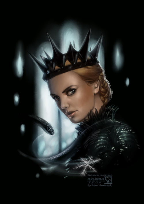 daekazu:  Time to freezing days!On the picture Charlize Theron as Evil Queen Ravenna.I have some wird weaknes to this character…Based mostly on photo-reference from the movie.