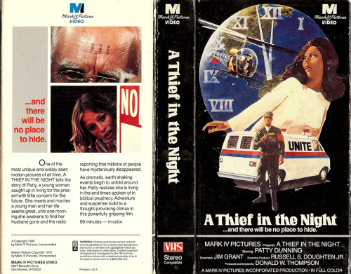 Classic Christian end times film A Thief in the Night is 40 years old (To read an excellent article about it, visit Religion & Politics; To watch a clip from the movie, click here; For a related video, click here http://christiannightmares.tumblr.com/post/1387314278/a-performance-of-the-larry-norman-song-i-wish)