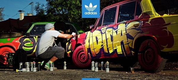 ARSEK, ERASE, Mr. AO, SPIT, SAIAN. For Adidas Originals in Sofia, Bulgaria.