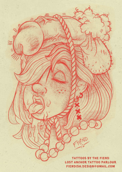 theinkfiend:  No. 13 - Valkyrie Dickery Custom tattoo design, come by Lost Anchor to get this inked!During November, this tattoo will be on sale for only $100 an hour! Book now!