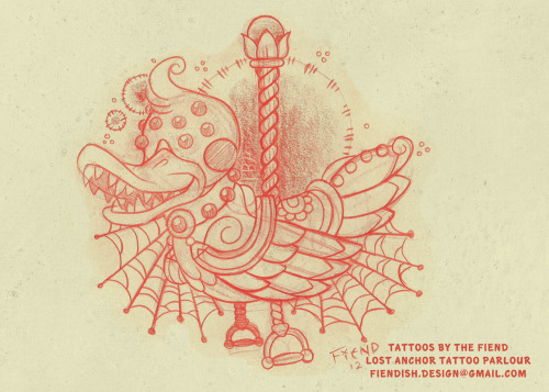 theinkfiend:  No. 12 - Duckie!Custom tattoo design, come by Lost Anchor to get this inked!During November, this tattoo will be on sale for only $100 an hour! Book now!