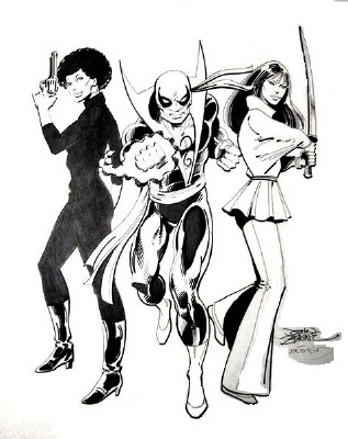 fajrdrako:  Daughters of the Dragon (Danny Rand, Colleen Wing and Misty Knight) by John Byrne.