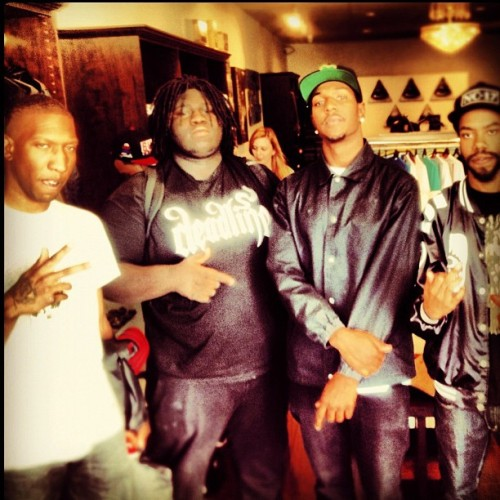 skylexington:  YOUNG HITMAKERZ Left Brain, Young Chop, Nic Goose, Sky Lexington @wasabimcgruff @youngchopbeatz @nicgoose @skylex