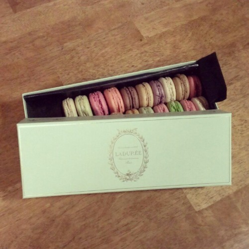 Many#thanks to @windowsphone for this nice box of #Ladurée Macaroons