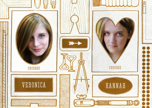 "Friend Crush  November 2012: Veronica and Hannah ""She is the Tenth Doctor to my Sherlock Holmes."""