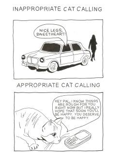 cats comics Illustrations tw: street harrassment