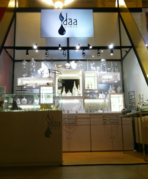 The daa glass shop at The Grand Central Holiday Fair, Grand Central Terminal, Vanderbilt Hall booth #39