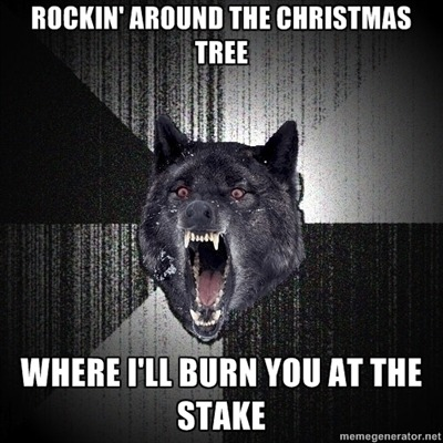 the-pun-isher:  That's enough Christmas Insanity Wolf for today. Good night :-)