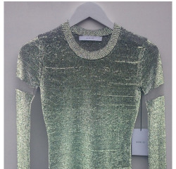 Light-reflective sweater by Dion Lee