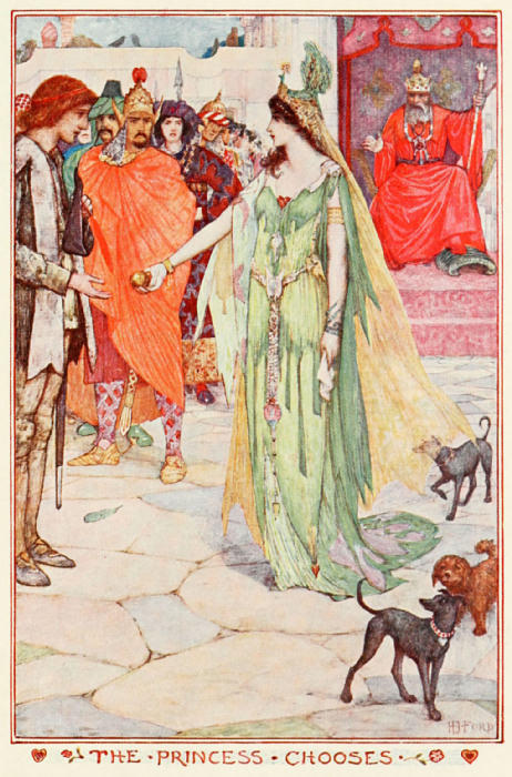 anachronisticfairytales:  He Wins Who Waits H.J. Ford Andrew Lang, The Olive Fairy Book