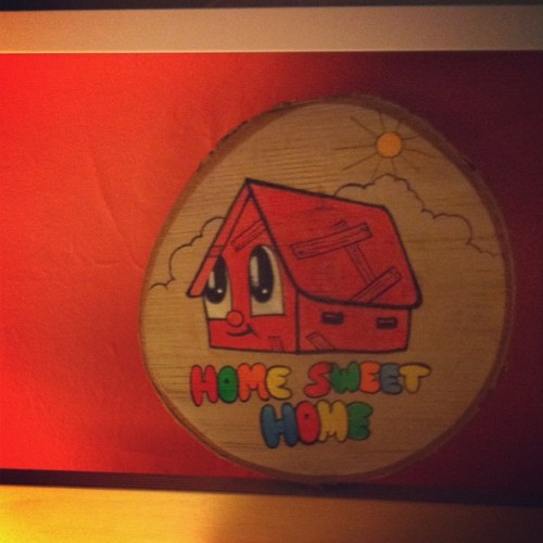 Another amazing creation by @chrisuphues… The sweetest little Home Sweet Home painting I've ever seen! #love #homesweethome #painting #design #kidsroom #cute #friendly #craft #interiordesign #gift #art #genius #sunshine #rainbow #cartoon #comic #colorful #bright #shack # (at 143 Headquarters)