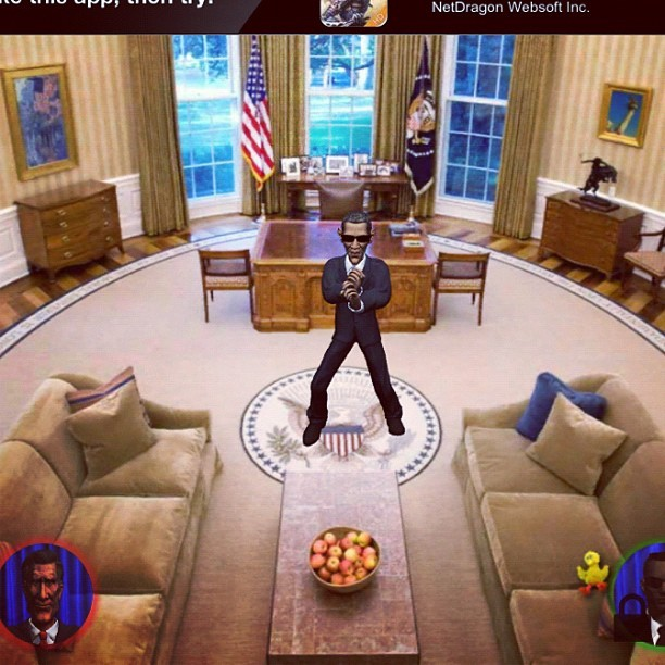 Obama doing it gangam style lol… #gangamstyle