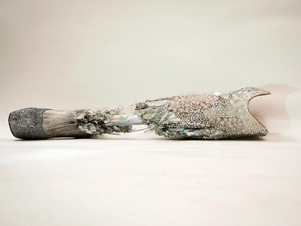 commovente:  Crystallized leg made for Viktoria Modesta for the Paralympic closing ceremony London 2012 sponsored by Swarovski
