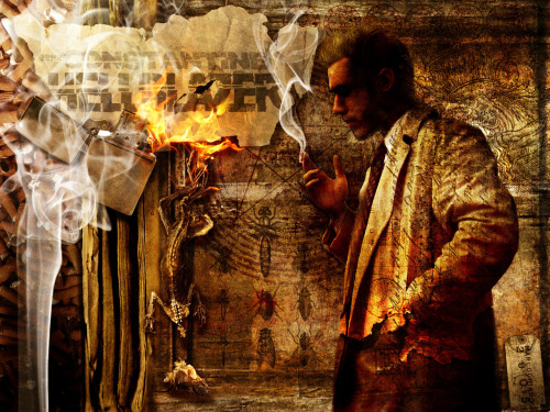 thehappysorceress:  John Constantine - Hellblazer by elfindetodo Magic Monday