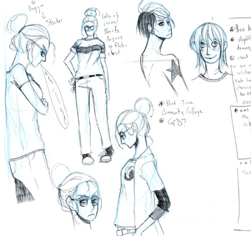 ":-0 Sketches of Belakane when she was 19.  Werkin' on my senior project alread @_@"" how time flies…. LOVE A.a"