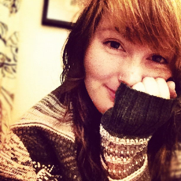Oh, hi.. #smile #winter #nomakeup #curl