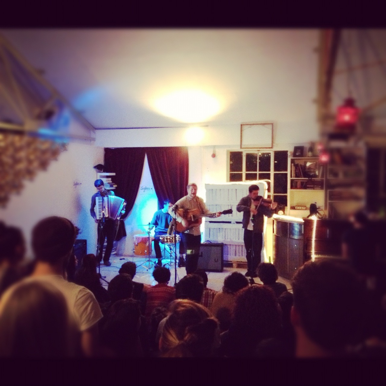 Dancing Years at Sofar Sounds in London 13/11/2012. Organisers have announced another London gig for November 22nd. Westminster University students have the chance of getting guaranteed tickets to the often over subscribed event. All you need to do is sign up to their mailing list and when a gig you want to be at is announced email londonsofar@gmail.com with the subjet 'Westminster'. It's first come first serve so get in there quick!