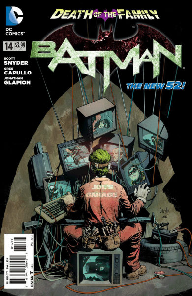 Batman #14 Cover by Greg Capullo. Follow Rad Recorder into the Batcave.