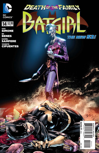 Batgirl #14 Cover by Ed Benes. Follow Rad Recorder into the Batcave.
