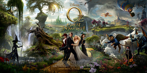 Oz: The Great And Powerful gets a giant triptych poster Oz: The Great And Powerful has released a giant triptych poster that's flanked by two previously released one-sheets…