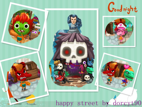 Happy Street, cute little fellow with Halloween mask! late post, hehe!