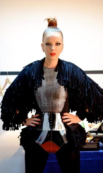 Shirley Manson rocks! Shirley: 'Check out this AH Maaaaaaaaazing outfit that Russian designer Dmitry Loginov sent to me to wear on stage. I look like frickin' Joan of Arc!!!!! LOVE LOVE LOVE this SOOoooo much.' (via The Book of Face). SM on Facebook. Follow Rad Recorder.