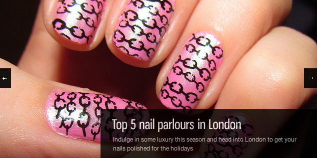 Indulge in some luxury this season and head into London to get your nails polished for the holidays. London has some of the best salons and stores in the UK and these are five of the best places you can go for a manicure.Here we give you a list for some lush nail treatment!