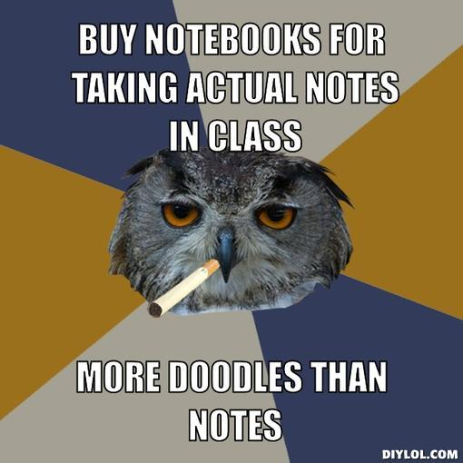 every notebook i have