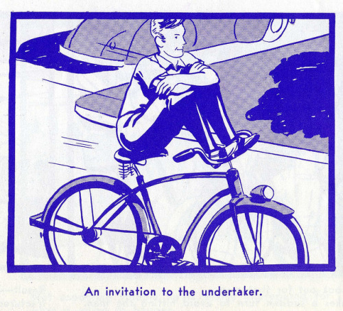 A charmingly illustrated vintage bicycle safety manual circa 1969