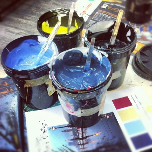 missmeaney:  Colour palette made up!! #colours #pigment #screenprinting #printing