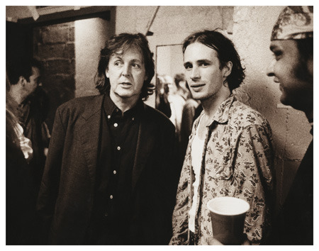 awesomepeoplehangingouttogether:  Paul McCartney and Jeff Buckley