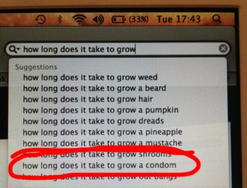 How Long Does it Take to Grow a Condom  About as long as it takes to grow your virginity tree.