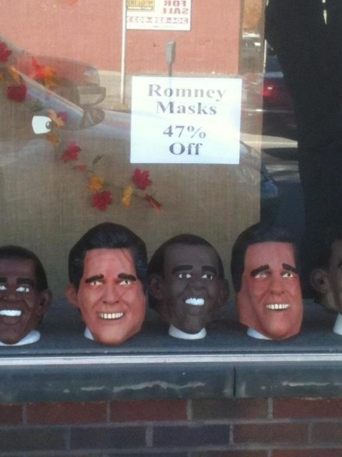 Romney masks, 47% off.