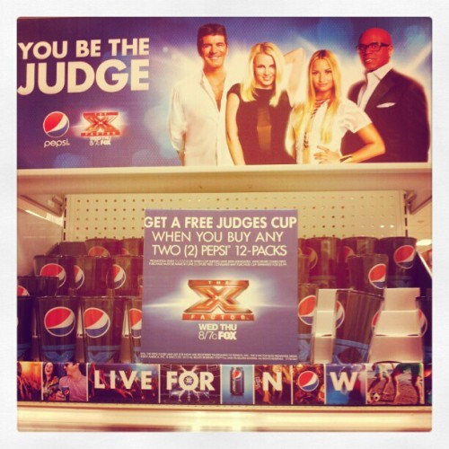 I found it without looking for it! #britneyspears #pepsi @thexfactorusa