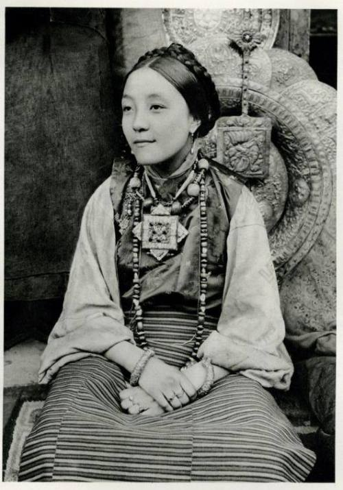 almeh:  Young Tibetan woman from Darjeeling, India, 1928